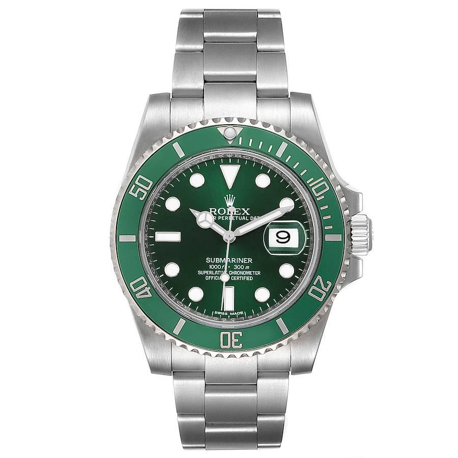 Rolex Submariner Hulk Green Dial Bezel Mens Watch 116610LV Box Card SwissWatchExpo