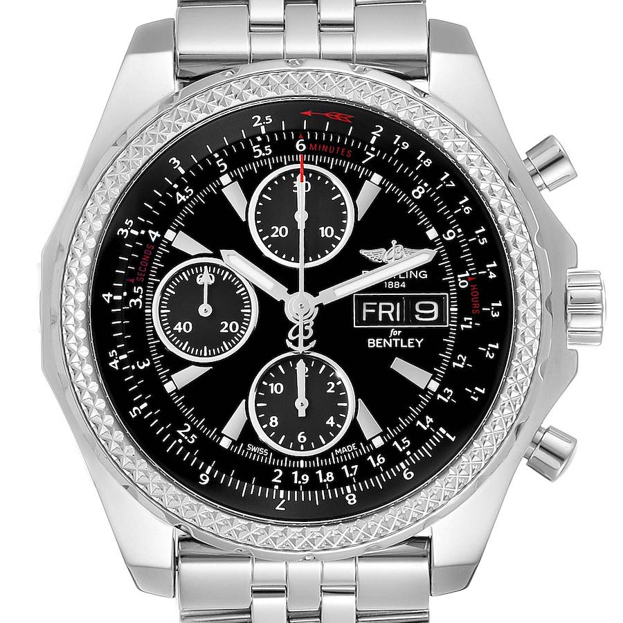 Breitling Bentley Motors GT Special Edition Mens Watch A13362 Box Card SwissWatchExpo