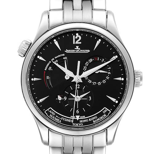 Photo of Jaeger Lecoultre Master Geographic Steel Mens Watch 176.8.29.S Q1428171