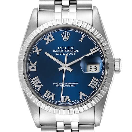 Photo of Rolex Datejust Blue Dial Steel Vintage Mens Watch 16030