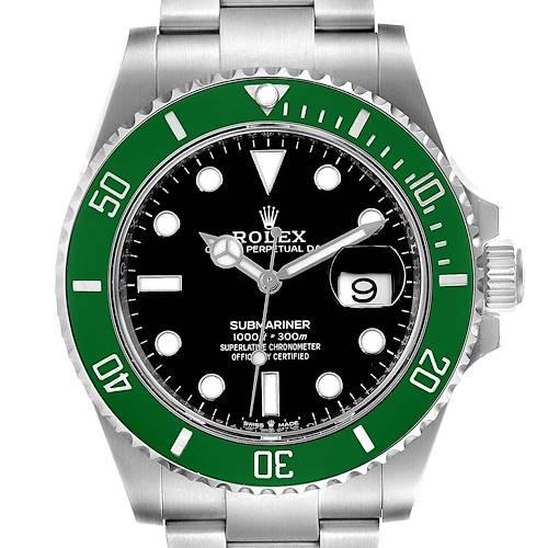 Photo of Rolex Submariner 50th Anniversary Green Kermit Mens Watch 126610LV Unworn