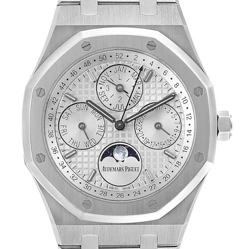 Audemars Piguet Royal Oak Perpetual Calendar Mens Watch 26574ST Box Papers