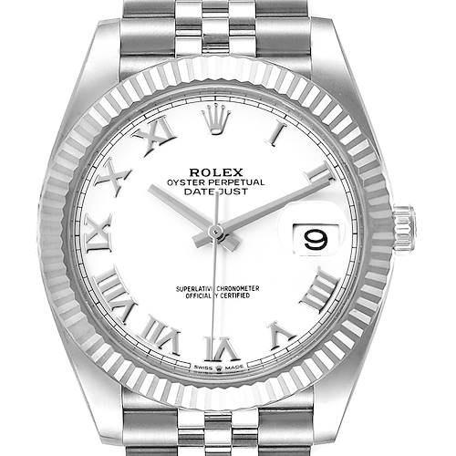 Photo of Rolex Datejust 41 Steel White Gold Jubilee Bracelet Mens Watch 126334 Unworn