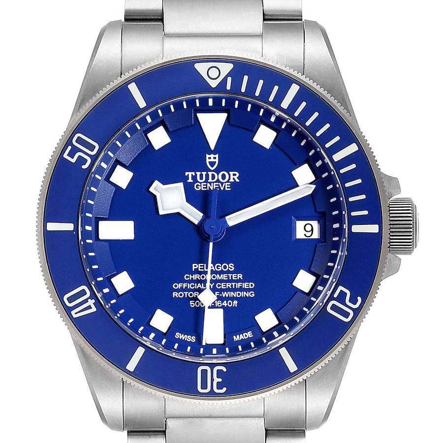 Tudor Pelagos Blue Dial Automatic Titanium Mens Watch 25600 Box Card SwissWatchExpo