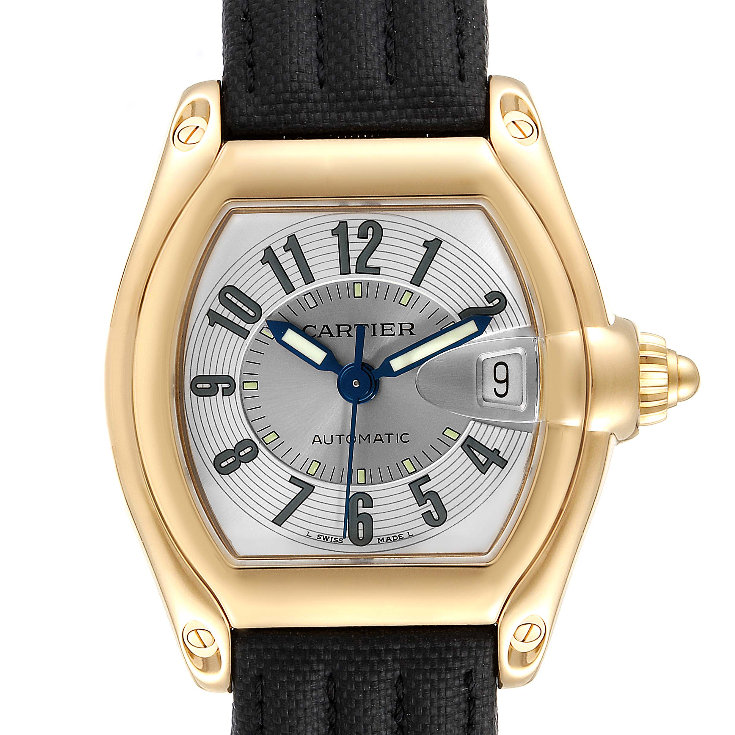 Cartier Roadster 18K Yellow Gold Large Mens Watch W62005V2 SwissWatchExpo