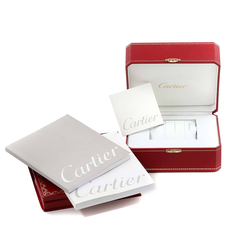 Cartier Santos Galbee Steel Yellow Gold Mens Watch W20058C4 Box Papers SwissWatchExpo