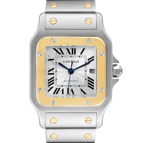 Photo of Cartier Santos Galbee Steel Yellow Gold Mens Watch W20058C4 Box Papers