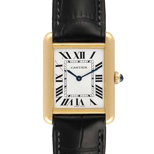 Photo of Cartier Tank Solo Yellow Gold Steel Ladies Watch W1018755