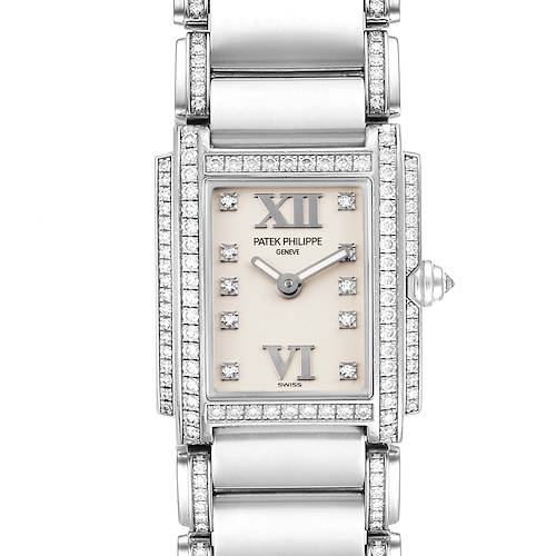 Photo of Patek Philippe Twenty-4 18K White Gold Diamond Ladies Watch 4908/310G