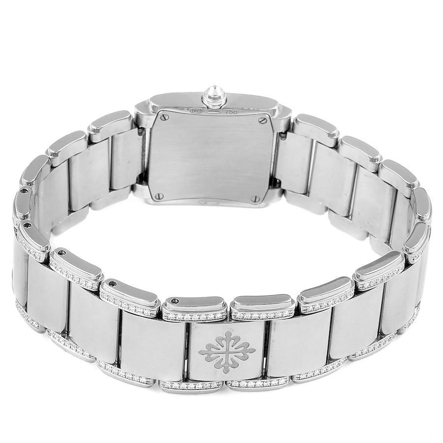 Patek Philippe Twenty-4 18K White Gold Diamond Ladies Watch 4908/310G SwissWatchExpo