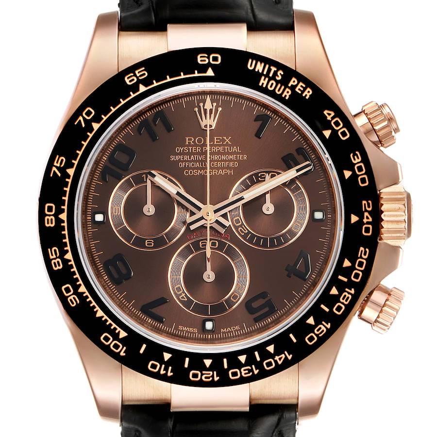 Rolex Cosmograph Daytona Rose Gold Everose Mens Watch 116515 Box SwissWatchExpo