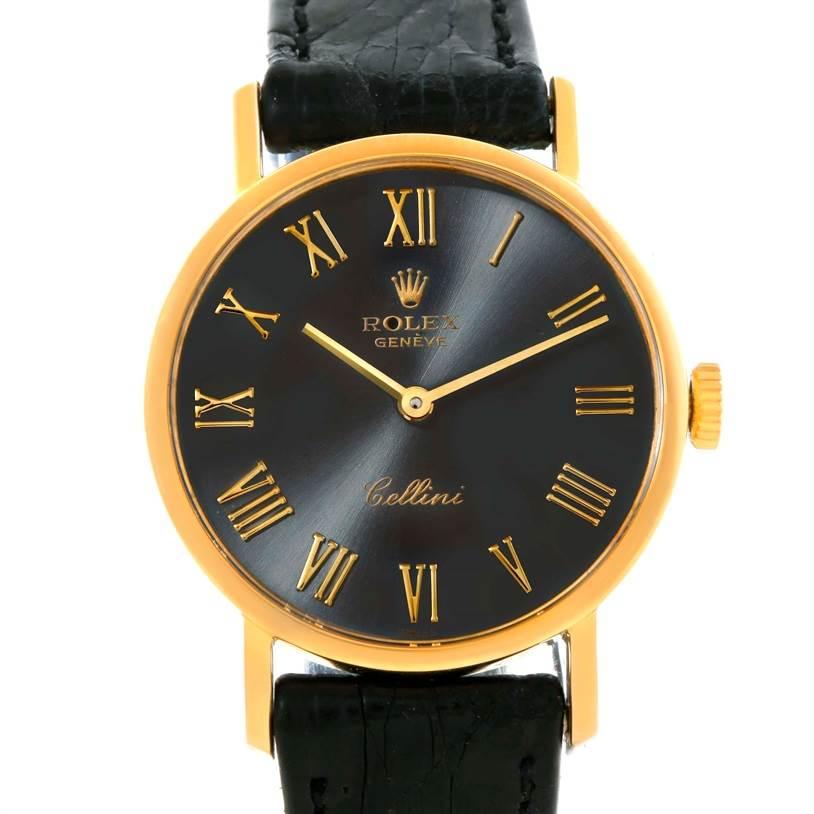 10224 Rolex Cellini Classic 18k Yellow Gold Ladies Watch 5109 SwissWatchExpo