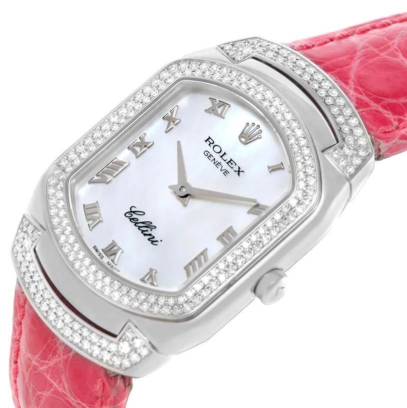 Cellini Diamond: Rolex Cellini Cellissima 18K White Gold 222 Diamond Ladies