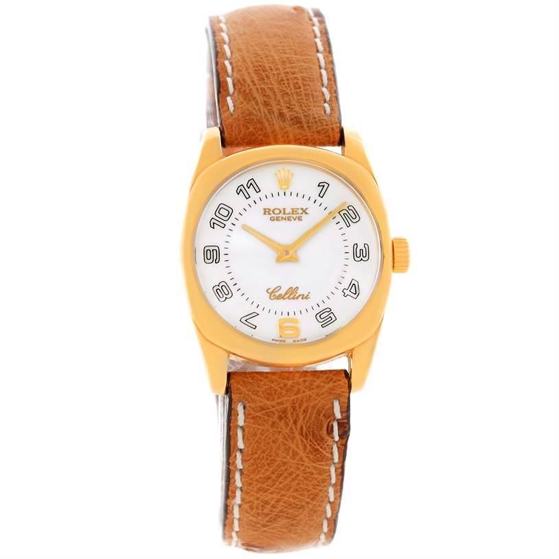 Rolex Cellini Danaos Small 18K Yellow Gold Watch 6229 Unworn SwissWatchExpo