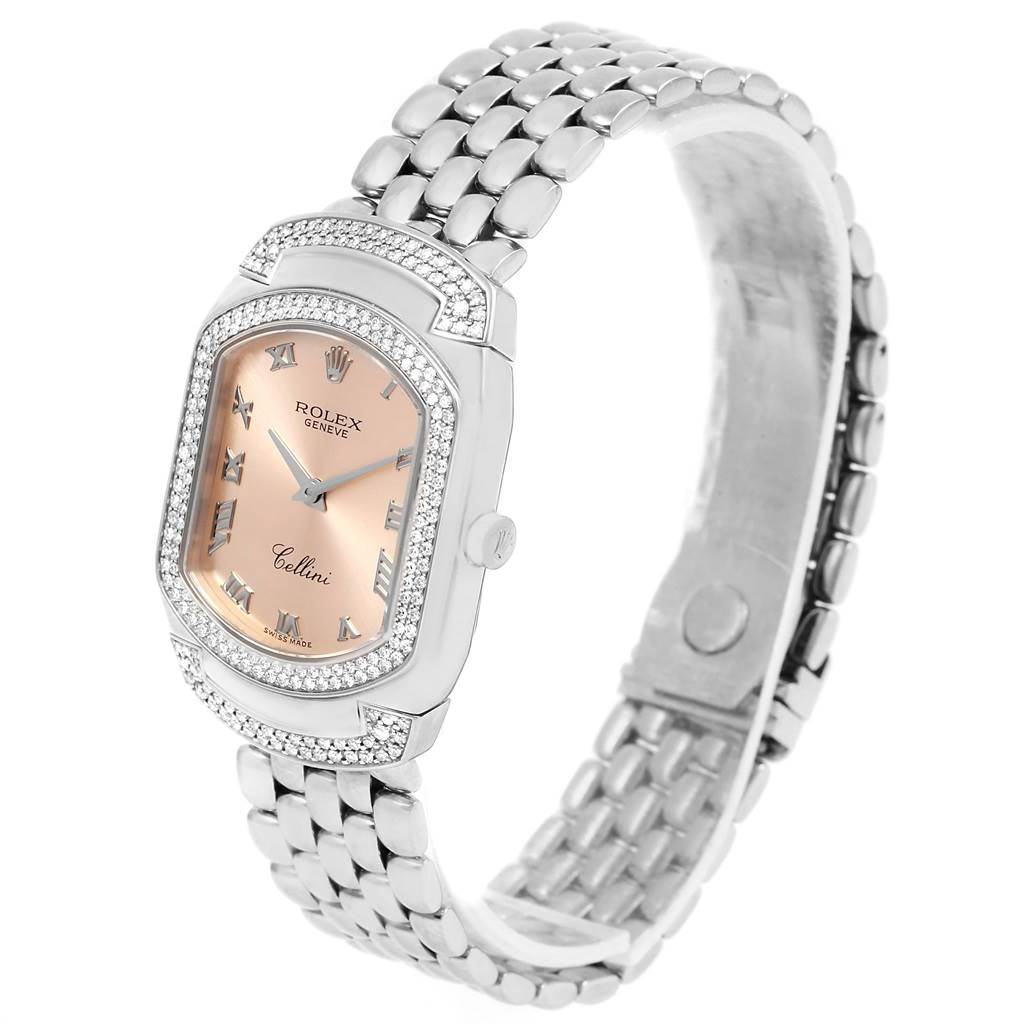 Cellini Diamond: Rolex Cellini Cellissima White Gold Diamond Ladies Watch