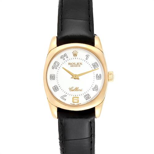 Photo of Rolex Cellini Danaos Yellow Gold White Dial Ladies Watch 6229