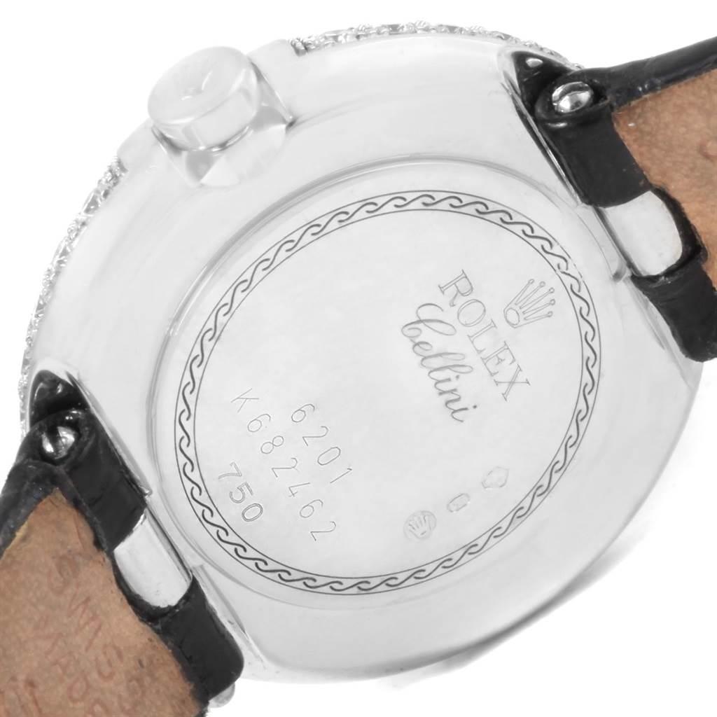 Rolex Cellini Orchid White Gold Diamond Ladies Watch 6201 SwissWatchExpo