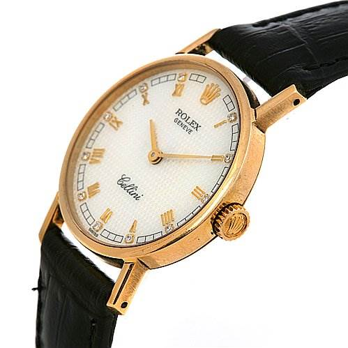 Rolex Cellini Ladies 18k Yellow Gold Diamond Watch 5109 SwissWatchExpo