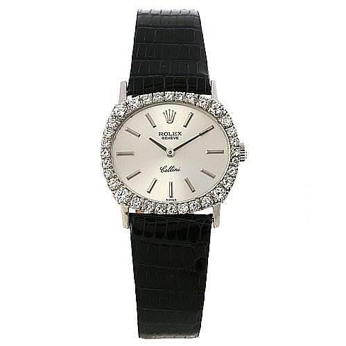 Rolex Cellini Ladies Watch 18k w Gold Diamond 3802 SwissWatchExpo