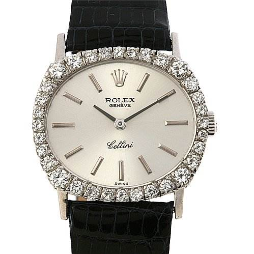 2385 Rolex Cellini Ladies Watch 18k w Gold Diamond 3802 SwissWatchExpo