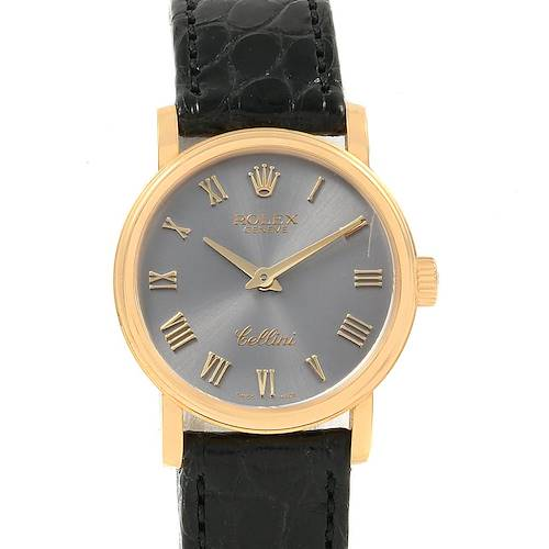 Photo of Rolex Cellini Classic 18k Yellow Gold Ladies Watch 6110 Box Card