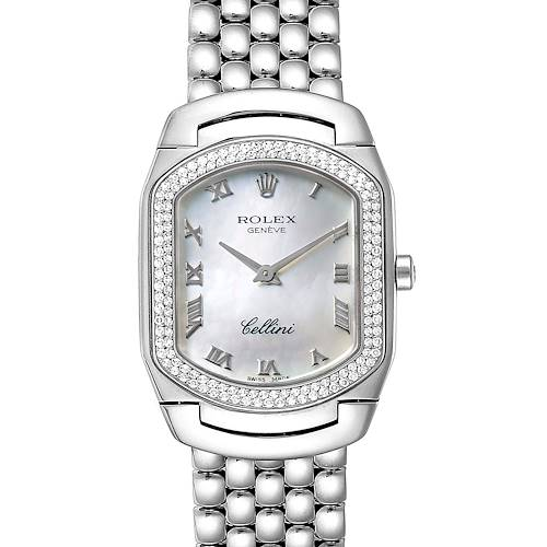 Photo of Rolex Cellini Cellissima White Gold Diamond Ladies Watch 6691 Box Papers