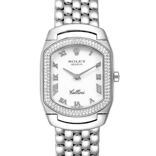 Rolex Cellini Cellissima White Gold Diamond Ladies Watch 6691