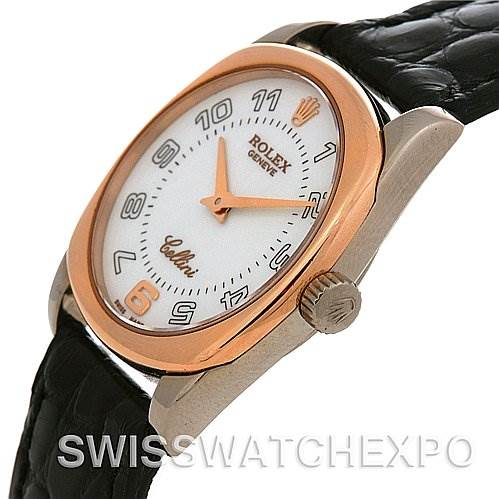 2492 Rolex Cellini Danaos Ladies 18k White & Rose Gold 6229 SwissWatchExpo