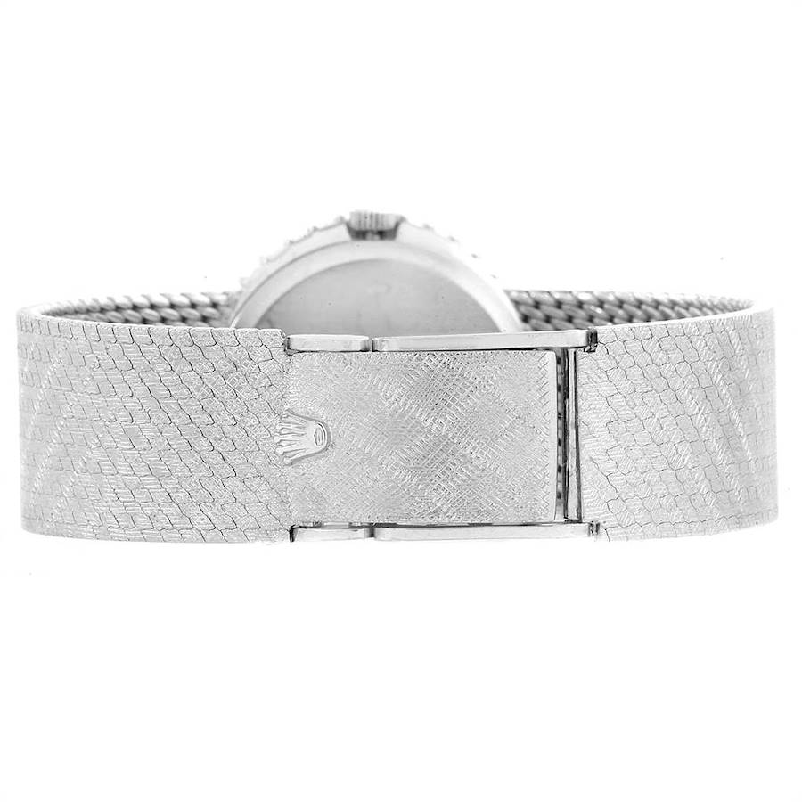 Rolex Cellini White Gold Diamond Vintage Cocktail Ladies Watch 3916 SwissWatchExpo