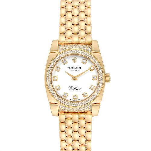 Photo of Rolex Cellini Cestello Yellow Gold Diamond Ladies Watch 6311 Box Papers