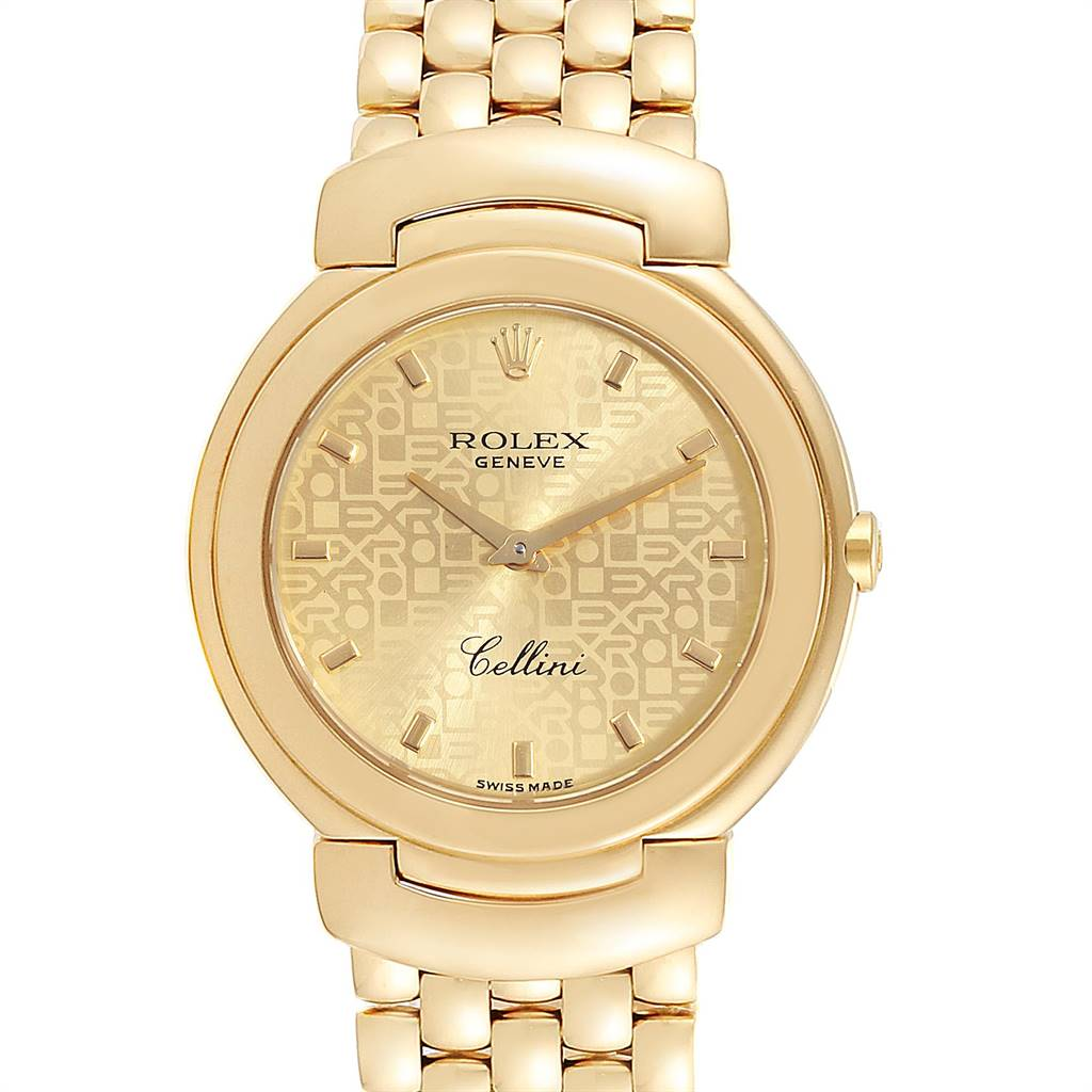 24174 Rolex Cellini 33mm 18k Yellow Gold Ladies Watch 6622 SwissWatchExpo