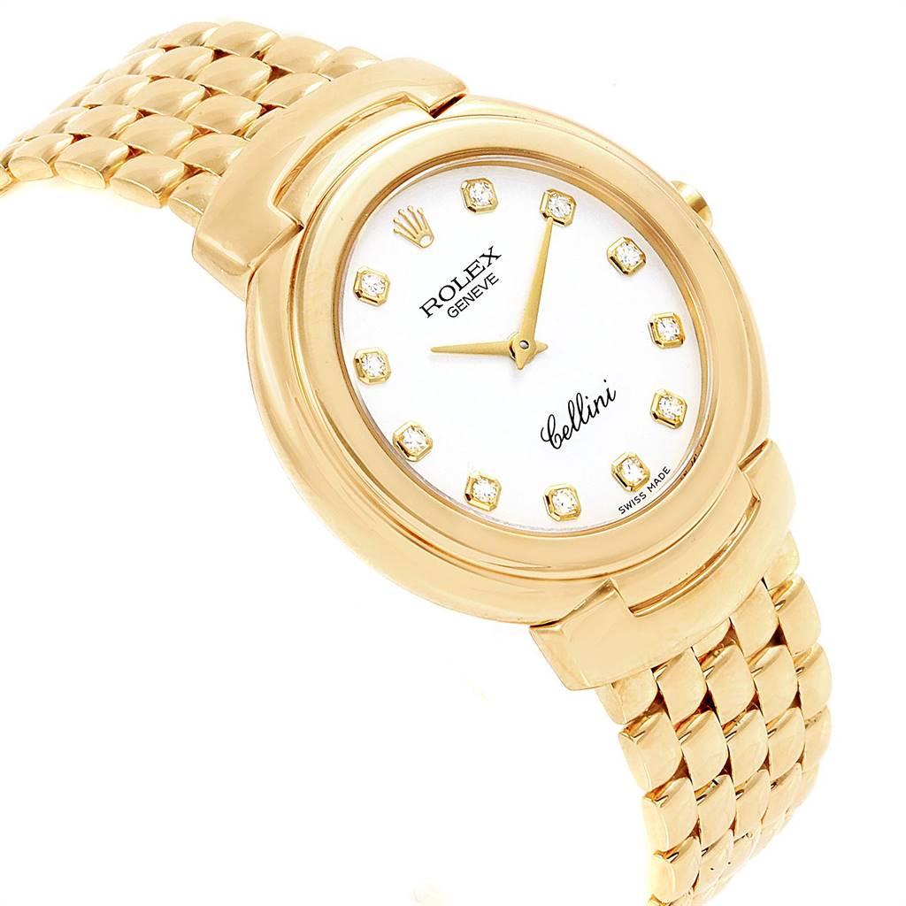 Rolex Cellini Yellow Gold Diamond Dial Ladies Watch 6622 Box Papers SwissWatchExpo