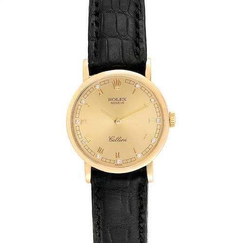 Photo of Rolex Cellini Classic 26mm Yellow Gold Diamond Ladies Watch 5109