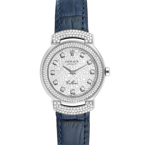 Photo of Rolex Cellini Cellissima 26mm White Gold Diamond Ladies Watch 6673