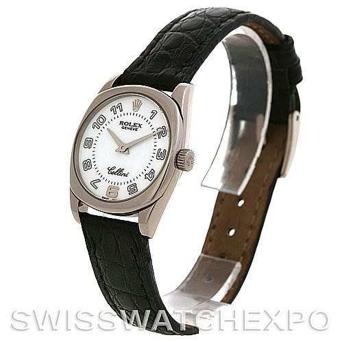 2691 Rolex  Cellini Danaos Ladies 18K White Gold 6229 SwissWatchExpo