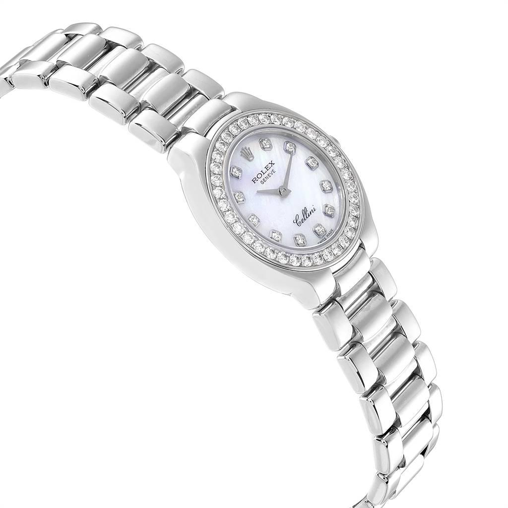 Rolex Cellini Cellissima 18K White Gold Diamond Ladies Watch 6661 SwissWatchExpo