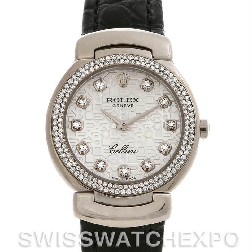 Cellini Diamond: Rolex Cellini Cellissima 18k Gold Diamond Watch 6671/9