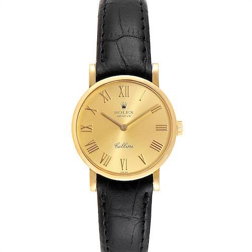 Photo of Rolex Cellini Classic Yellow Gold Roman Numerals Ladies Watch 5109