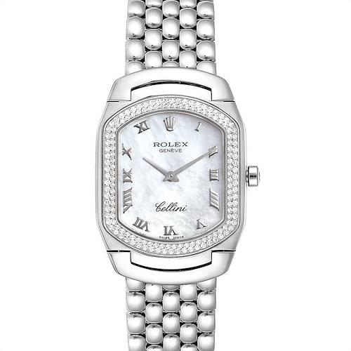 Photo of Rolex Cellini Cellissima White Gold Diamond Ladies Watch 6691 Box Card
