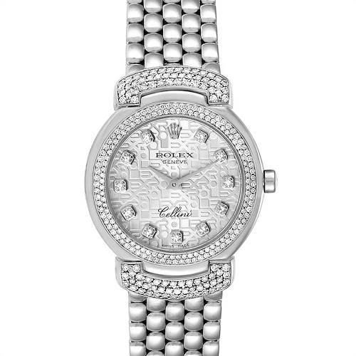 Photo of Rolex Cellini Cellissima White Gold Silver Dial Diamond Ladies Watch 6673