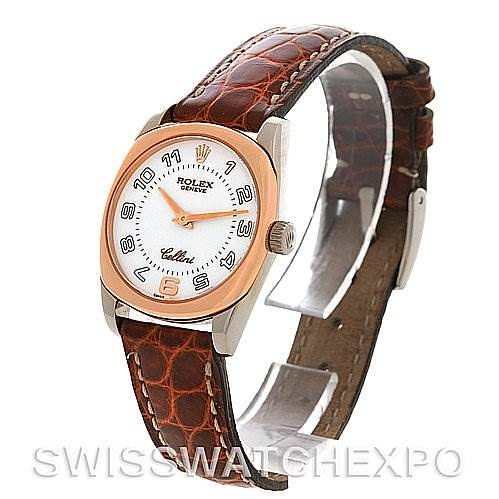 Rolex Cellini Danaos Ladies 18k White & Rose Gold 6229 SwissWatchExpo