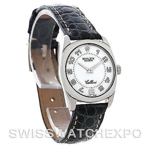 Rolex Cellini Danaos Ladies 18K White Gold 6229 NOS SwissWatchExpo