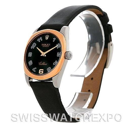 Rolex Cellini Danaos Ladies 18k White and Rose Gold Watch 6229 SwissWatchExpo