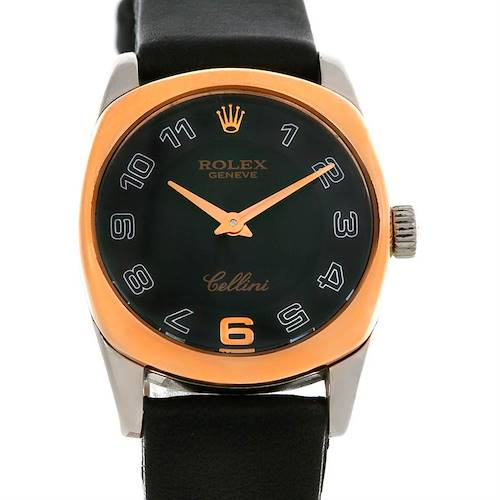 Photo of Rolex Cellini Danaos Ladies 18k White and Rose Gold Watch 6229