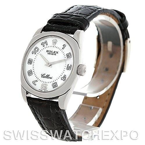 Rolex Cellini Danaos Ladies 18K White Gold 6229 SwissWatchExpo