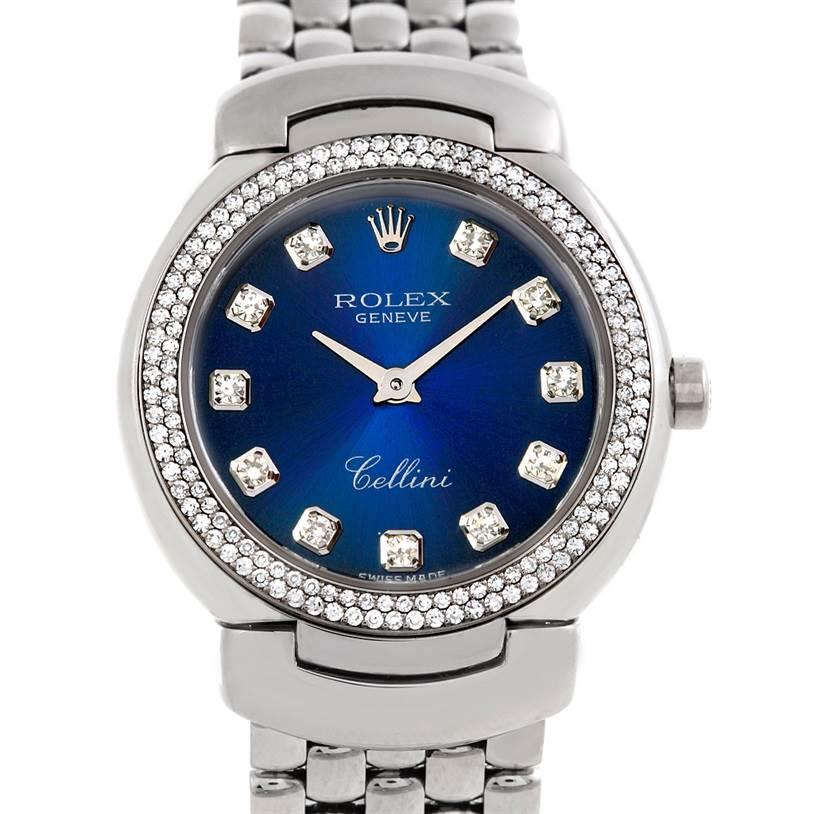 Cellini Diamond: Rolex Cellini Cellissima 18k Gold Diamond Ladies Watch 6671/9