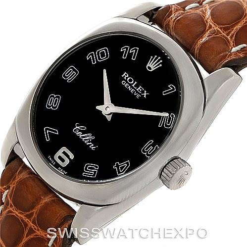 Rolex Cellini Danaos Ladies 18K White Gold Watch 6229 SwissWatchExpo