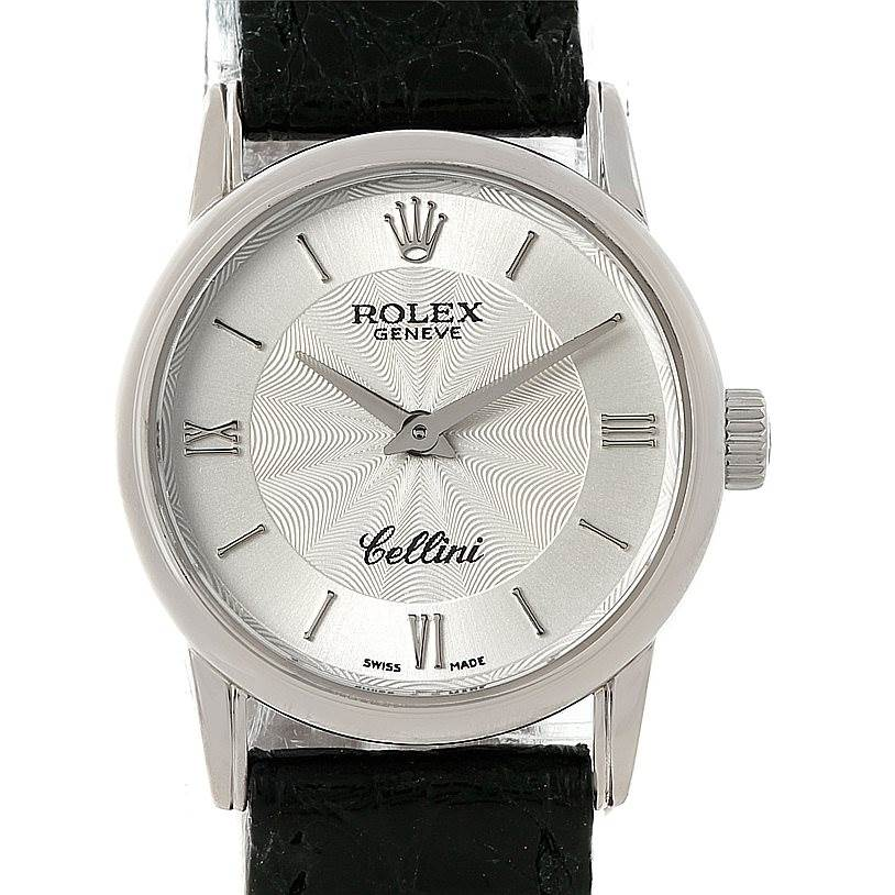 7737 Rolex Cellini Classic 18k White Gold Ladies Watch 6111 SwissWatchExpo