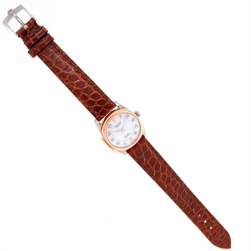 Rolex Cellini Danaos Ladies 18K White Rose Gold Watch 6229 Unworn SwissWatchExpo