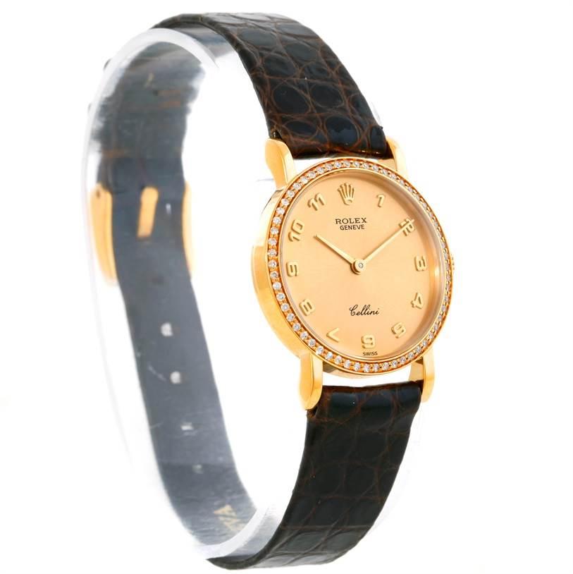 Cellini Diamond: Rolex Cellini Classic Ladies 18k Yellow Gold Diamond Watch